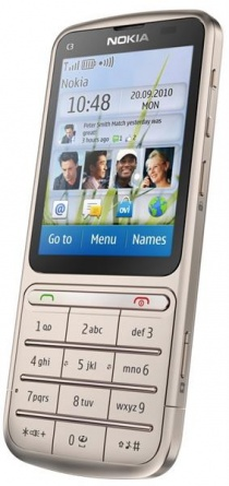 Nokia C3-01 Touch and Type Khaki Gold фото 2